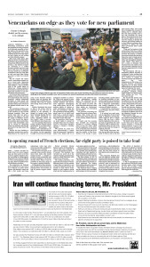 Page A9 of the Washington Post, 7 Dec 2015